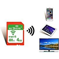 OSEI 無線LAN搭載 ez Share Wi-Fi SDHCカード Wi-fi内蔵カード Wi-Fi カード WiFi付きSDカード 無線LAN搭載SDHCメモリーカード Class10 最新世代 (4G)