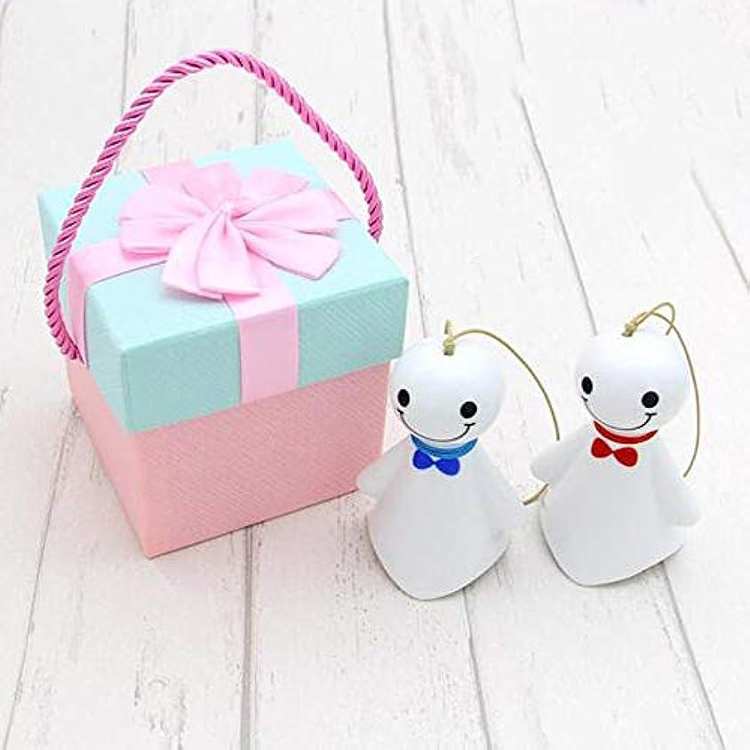 ネコ傀儡ビームYougou01 風チャイム、クリエイティブ?陶磁器人形風の鐘、ブルー、9.5CM、Aペアについて合計長さ、箱入り 、創造的な装飾