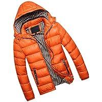 zhbotaolang Men Casual Jacket Hooded Parka - Autumn Winter Coat Warm Clothes