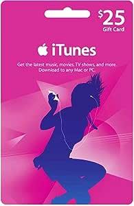 アップル iTunes カード北米版 $25 (iTunes Gift Card US $25) 本体発送版