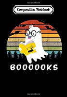 Composition Notebook: BOOOKS Ghost Reading Book Halloween Costume GIfts, Journal 6 x 9, 100 Page Blank Lined Paperback Journal/Notebook