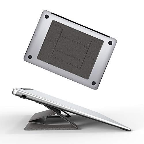 GeeRic ノートパソコン スタンド 折りたたみ 角度調節 タブレット PCスタンド PCホルダー 極薄 11.6~15.6インチ ノートパソコン用スタンド 持ち運び 携帯便利 PC/MacBook/ラップトップ/iPad/タブレット スタンド 超軽量 出張 旅行 オフィス グレー