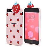 PLATA iPhone7 / iPhone8 ケース フルーツ デコ ソフト カバー アイフォン 7 8 【 イチゴ 】 IP7-4101-01