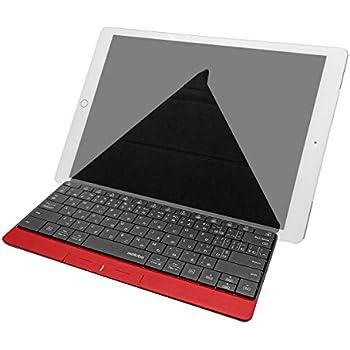 UNIQ タッチパッド内蔵 Bluetooth ワイヤレスキーボード mokibo (レッド) + 専用スマートカバースタンド セット