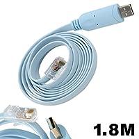 FTDI USBポートto rj45コンソールケーブルCiscoルータのロールオーバーケーブルC to rj45オス USB to RJ45: 6FT FTDI-RJ45-1.8m