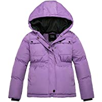 ZSHOW Girls' Padded Puffer Jacket Thicken Quilted Warm Hooded Winter Coat