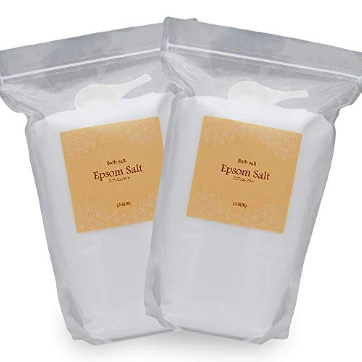 【有名女優ご愛用品】アースコンシャス 国産 エプソムソルト [お得な2袋セット 6kg] バスソルト 硫酸マグネシウム 大容量 (3kgパック×2袋 / 入浴剤 原料) 計量スプーン付 ギフト