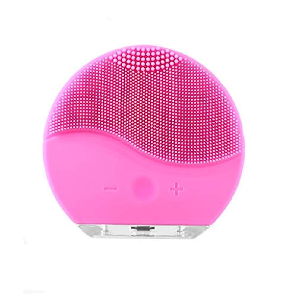 恩赦潜在的な成人期洗濯フェイスアーティファクト家庭用電化製品洗浄シリコーン電気洗浄器具usb充電防水美容器具洗浄ブラシ (Color : Pink)