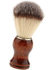 Fenteer サロン ひげブラシ シェービングブラシ メンズ用 ナイロン  理髪用  快適 首/顔 散髪整理 泡たてやすい
