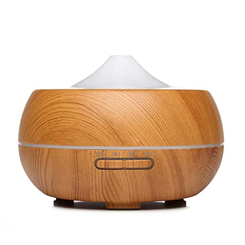 まだ腹出席するオイルディフューザーエッセンシャルオイル300ミリリットルエッセンシャルオイルディフューザー電動クールミスト加湿器空気清浄機ウォーターレスオートオフ空気清浄機 (Color : Light Wood Grain)