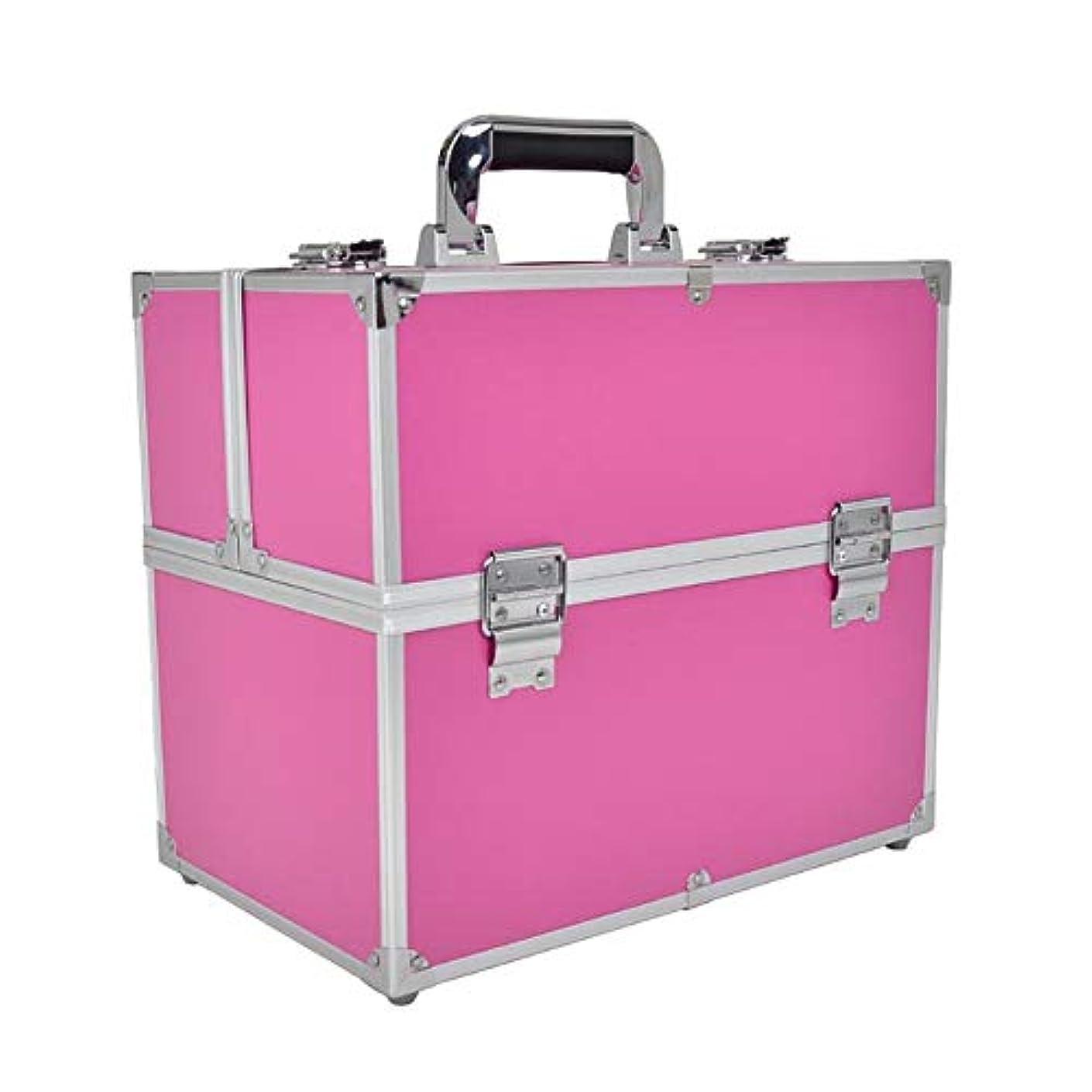 受取人トランク変成器化粧オーガナイザーバッグ 6トレイの小さなものの種類のための旅行のための美容メイクアップのための大容量大容量化粧品ケース 化粧品ケース