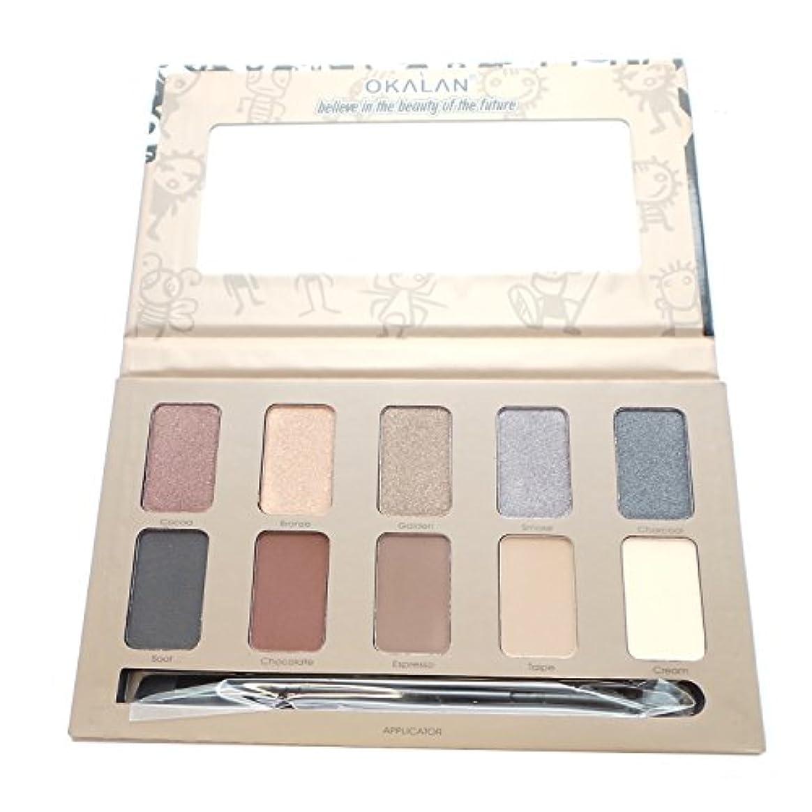 指紋博物館バリケードOKALAN 10 Shade Natural Eyeshadow Palette - A (並行輸入品)