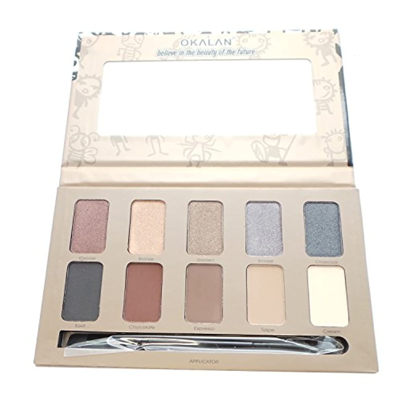ナイロン成分毒性OKALAN 10 Shade Natural Eyeshadow Palette - A (並行輸入品)