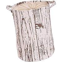 SM SunniMix 木製塗装 折り畳み式 洗濯 バスケット 収納袋 3種選べる - L-弦