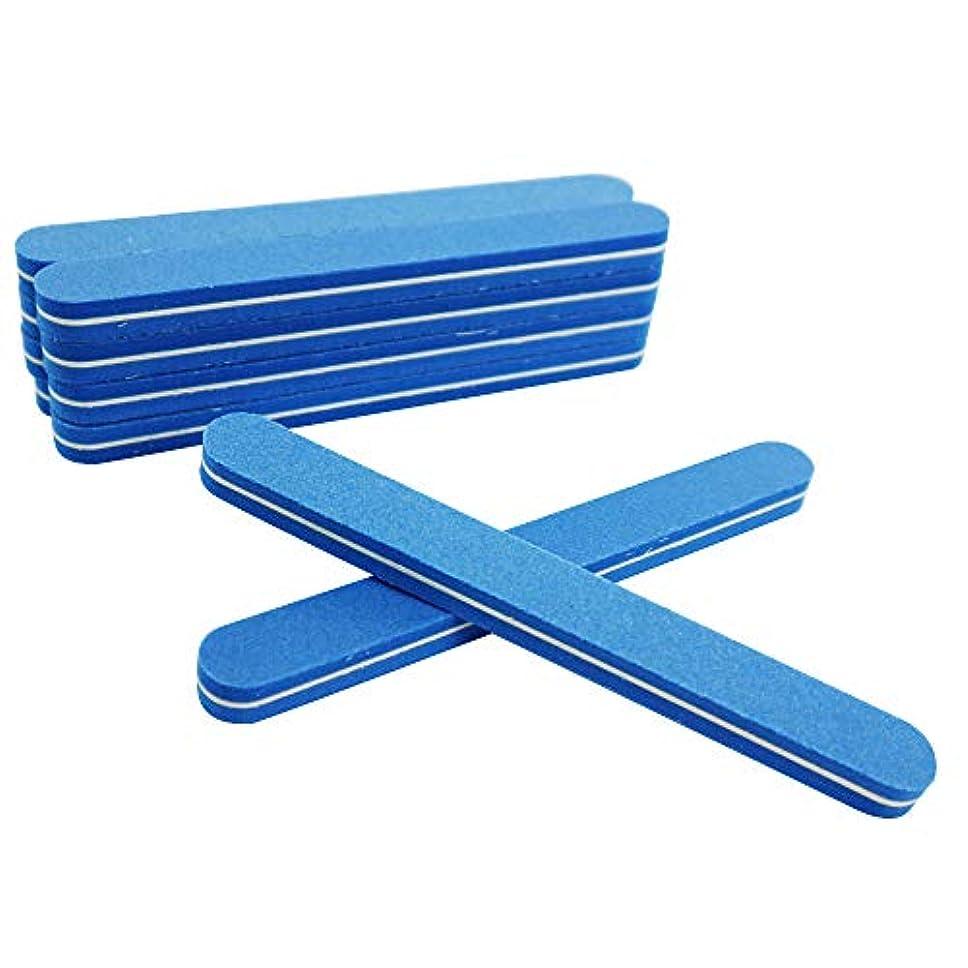 カスタム舗装芸術業務用 爪磨き ネイルケア 10本セット 両面 (直線型)