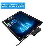 Cateck Surface Pro用 USB3.0ハブ、2スロットカードリーダー搭載2ポートUSBハブ、USB給電ポート付 バスパワー