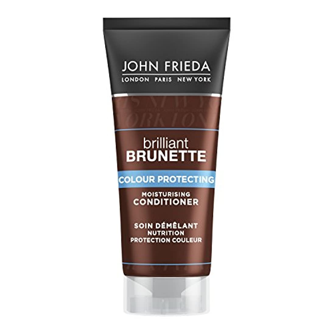 六負担温度John Frieda Brilliant Brunette Moisturising Conditioner Travel Size 50ml