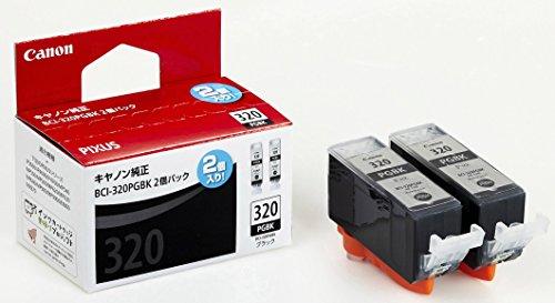 Canon キヤノン 純正 インクカートリッジ BCI-320 ブラック 2個パック BCI-320PGBK2P