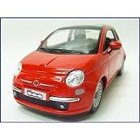 KiNSMART◇2007NEWフィアットFIAT500◇1/28ミニカー/レッド
