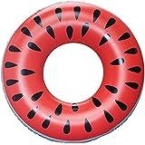 CUBCBIIS 大きなスイカプールフロート、面白いインフレータブルビニール夏のプールやビーチおもちゃ、パッチキットが含まれて