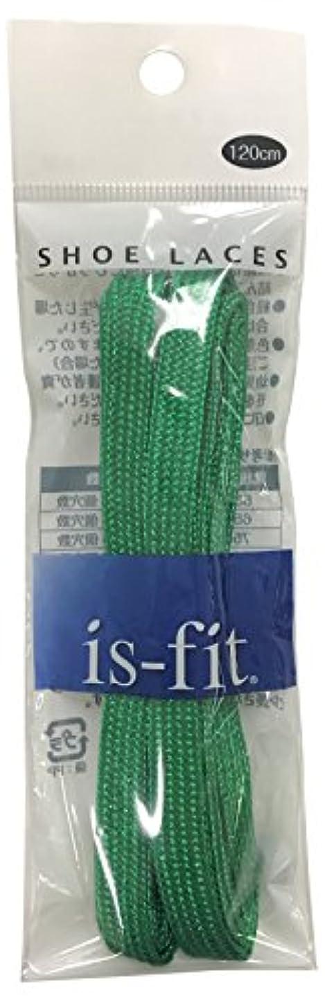 打倒生き物人間is-fit シューレース メタリック  グリーンRI-4 120cm