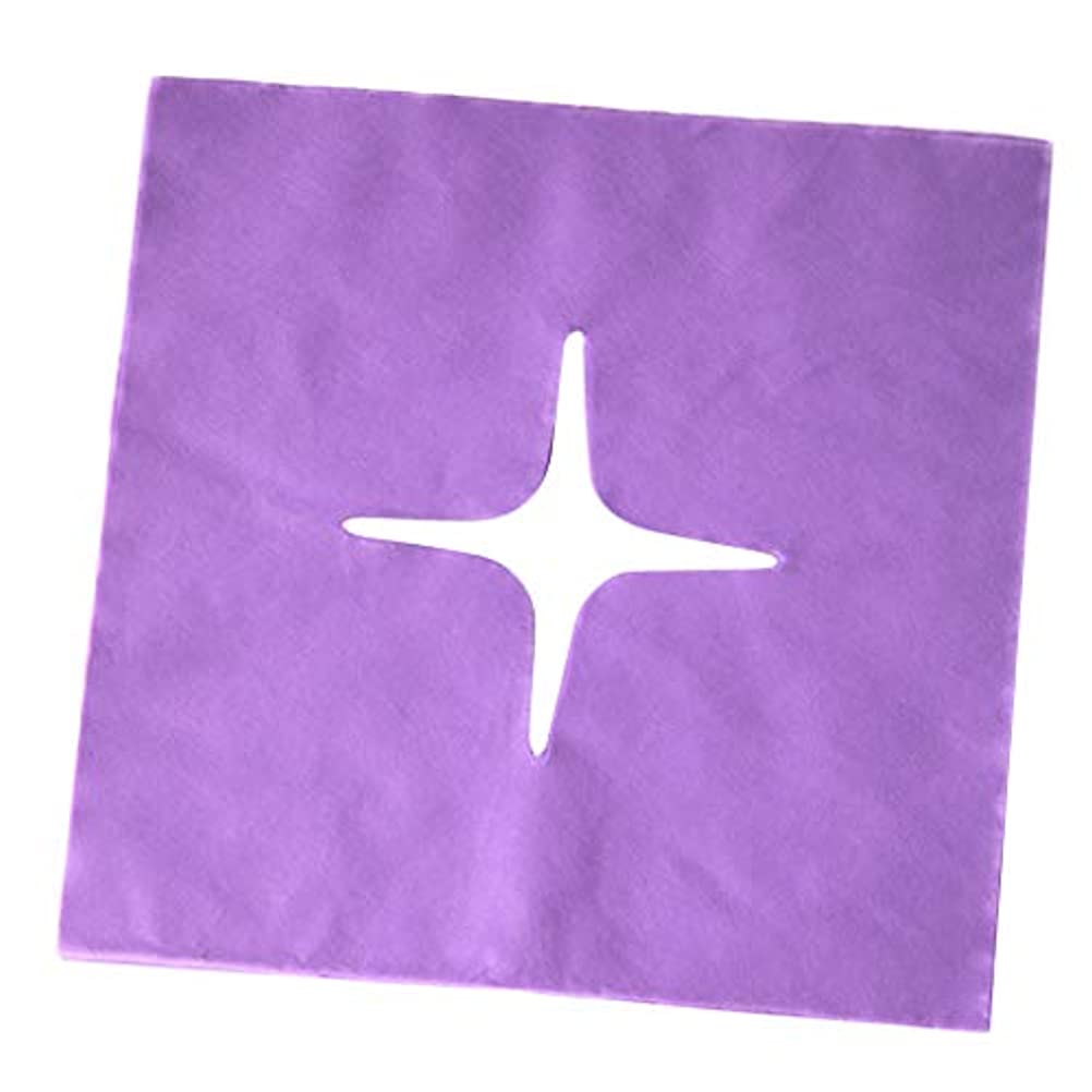 干渉チャネル安定マッサージ フェイスクレードルカバー スパ用 美容院 ビューティーサロン マッサージサロン 全3色 - 紫の