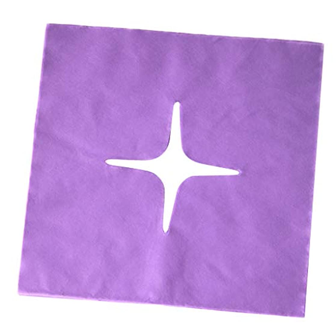 尊敬キャンディー不明瞭マッサージ フェイスクレードルカバー スパ用 美容院 ビューティーサロン マッサージサロン 全3色 - 紫の
