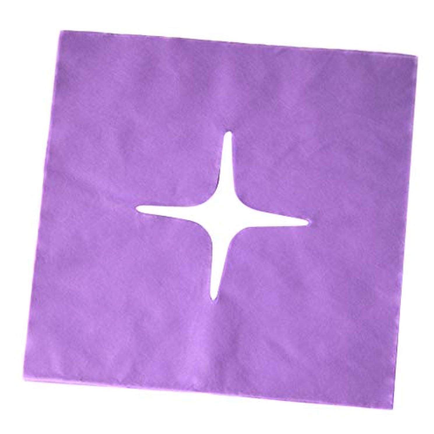 なす伸ばすルールマッサージ フェイスクレードルカバー スパ用 美容院 ビューティーサロン マッサージサロン 全3色 - 紫の
