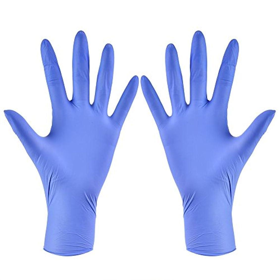 地理好き精通した使い捨て手袋 ニトリルグローブ ホワイト 粉なし タトゥー/歯科/病院/研究室に適応 S/M/L/XL選択可 100枚 左右兼用(XL)