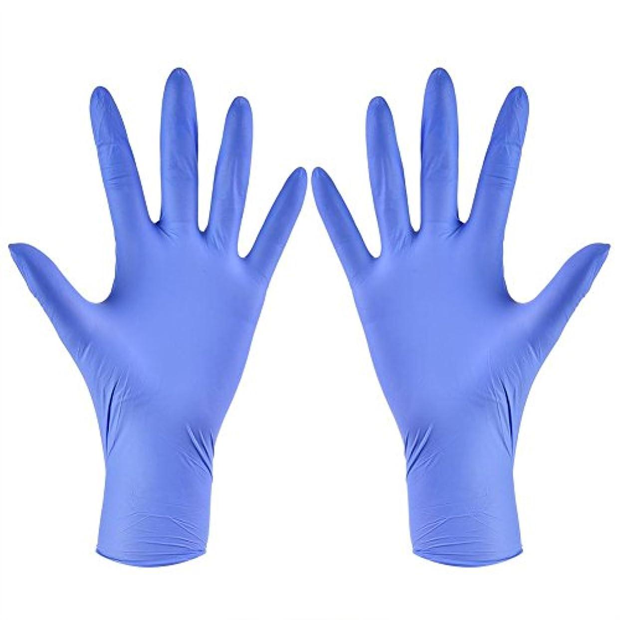 使い捨て手袋 ニトリルグローブ ホワイト 粉なし タトゥー/歯科/病院/研究室に適応 S/M/L/XL選択可 100枚 左右兼用(XL)