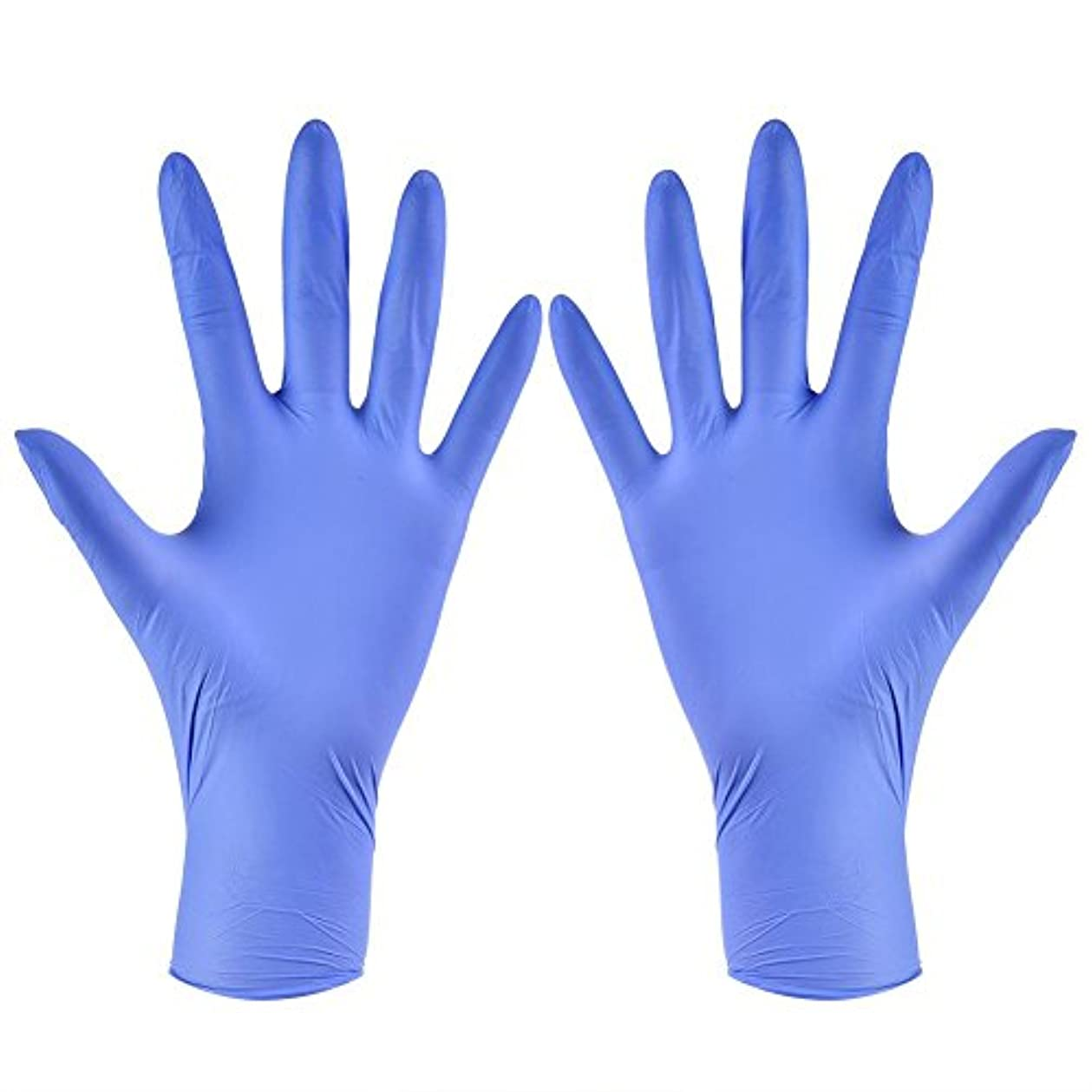 ジャズ寛解ストラップ使い捨て手袋 ニトリルグローブ ホワイト 粉なし タトゥー/歯科/病院/研究室に適応 S/M/L/XL選択可 100枚 左右兼用(XL)
