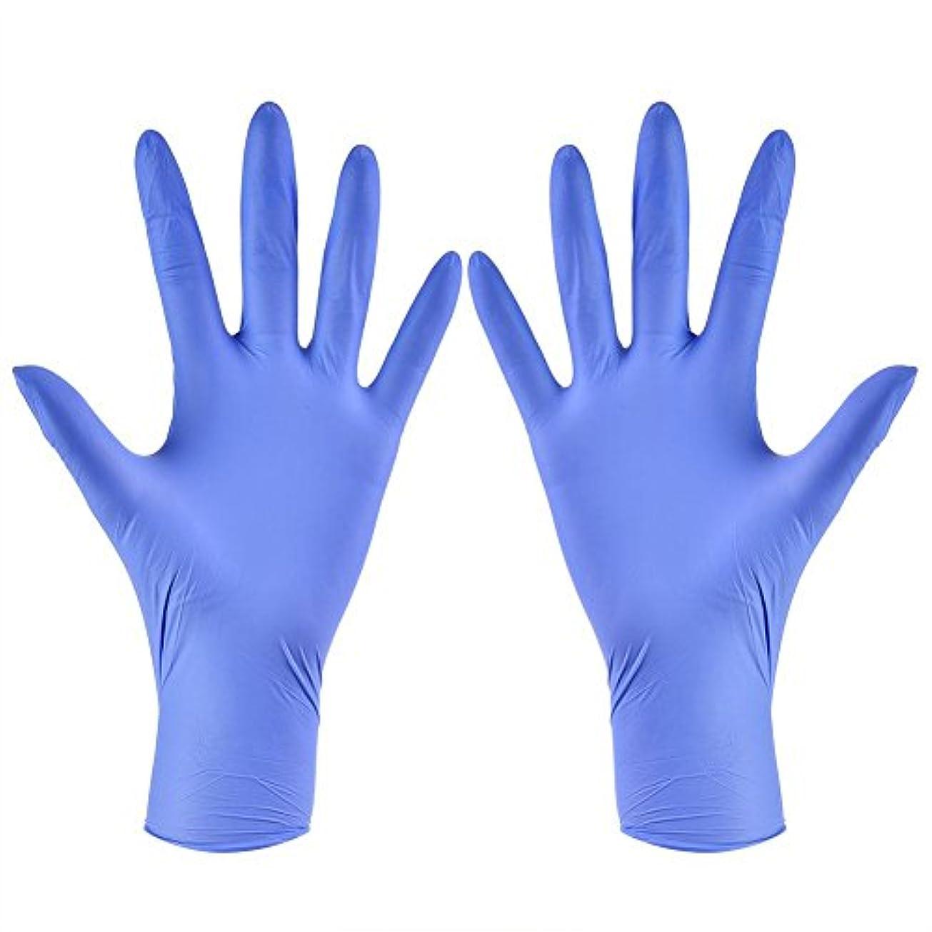 壁リスキーな再生可能使い捨て手袋 ニトリルグローブ ホワイト 粉なし タトゥー/歯科/病院/研究室に適応 S/M/L/XL選択可 100枚 左右兼用(XL)