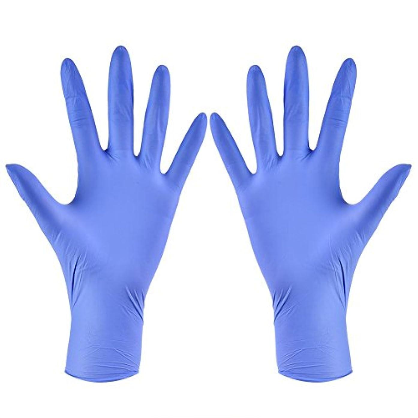 本宿題独特の使い捨て手袋 ニトリルグローブ ホワイト 粉なし タトゥー/歯科/病院/研究室に適応 S/M/L/XL選択可 100枚 左右兼用(XL)