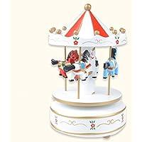 オルゴール 木製 メリーゴーランド カルーセル 子供 おもちゃ