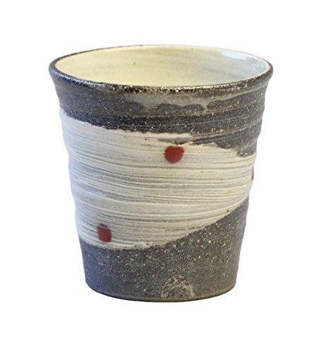 陶里 『信楽焼』 天の川(赤)焼酎カップ W919-08