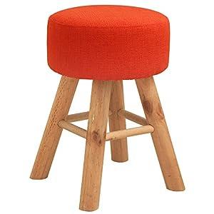 ルームアンドホーム 椅子 スツール マカロン オレンジ 30×30×42cm