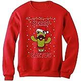 クリスマスキュートカクトス クリスマス可愛いカクトス クリスマススイートカクトス クリスマスユニークカクトス クリスマスカクトス スウェットシャツ