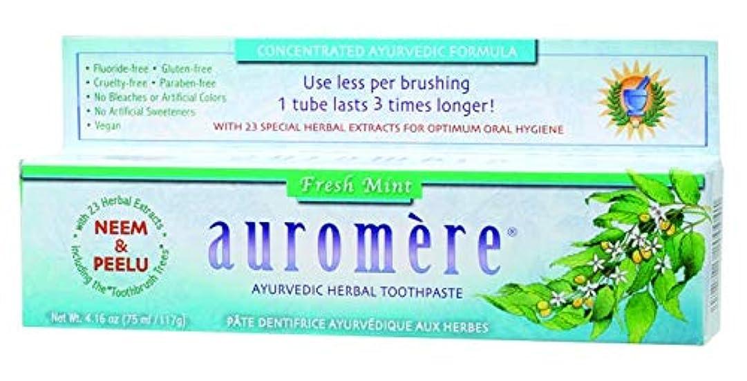 トランスペアレント透過性広範囲にオーロメア ハーバル歯みがき バルサラ フレッシュミント