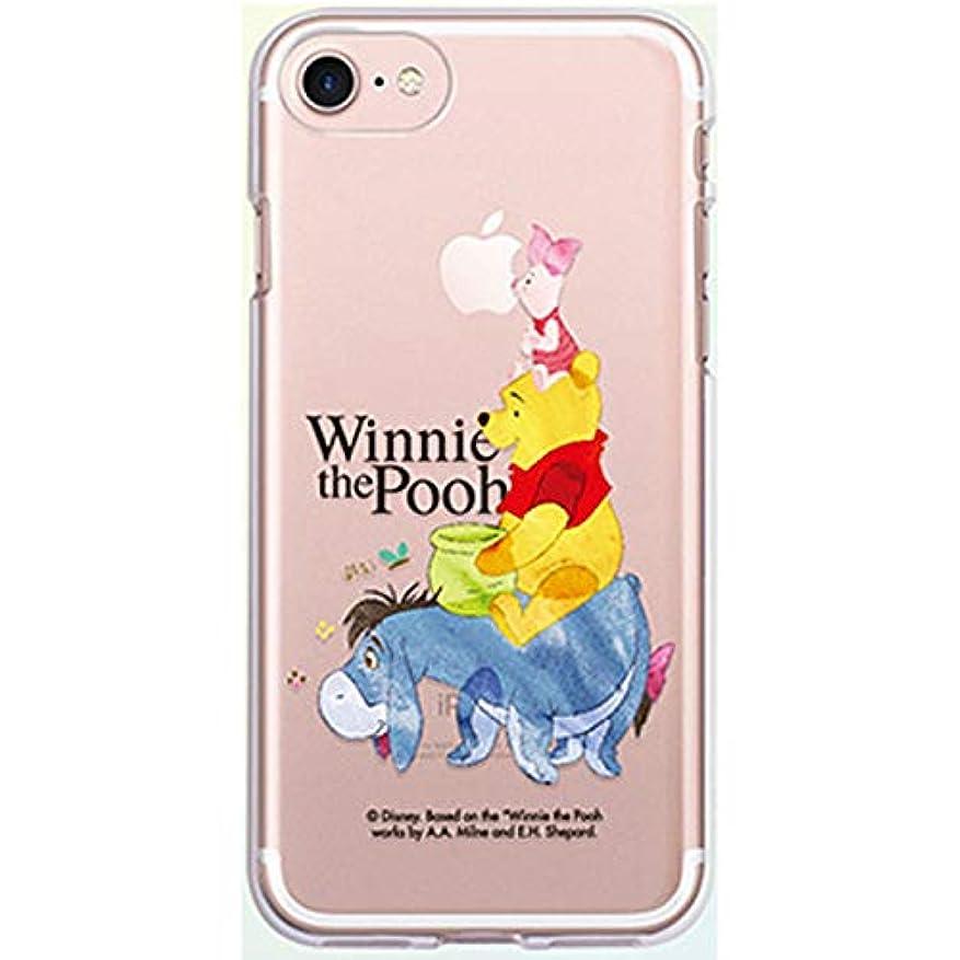 並外れて印象派大聖堂ディズニー プーさん iPhone XR iPhone8 iPhone7 TPU クリア ソフト ケース (iPhone8/iPhone7専用, HONEY)