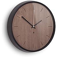umbra MADERA WALL CLOCK(マデラ ウォールクロック) ブラック/ウォルナット 2118413-048