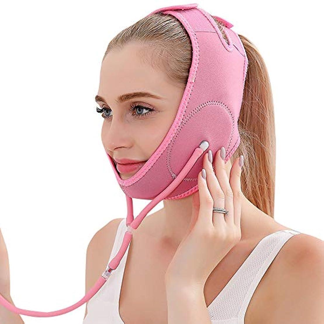 保全責任特徴YOE(ヨイ) エアー 顔やせ マスク 小顔 ほうれい線 空気入れ エアーポンプ 顔のエクササイズ フェイスリフト レディース (フリーサイズ, ピンク)