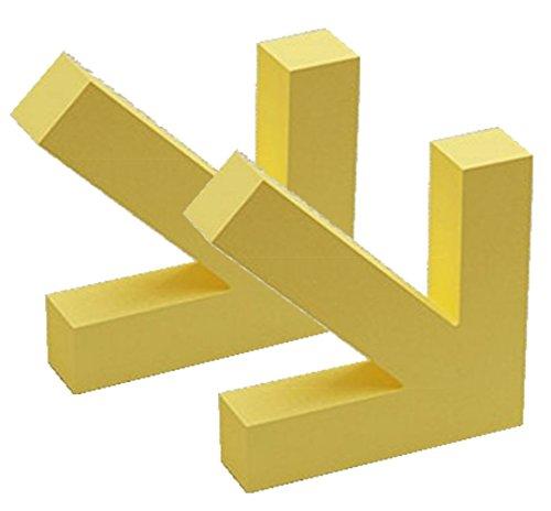 しあわせ倉庫 矢印 モチーフ 壁掛けフック 2個セット 壁フック 鍵かけ 小物入れ 木製 おしゃれ 収納 インテリア (イエロー)
