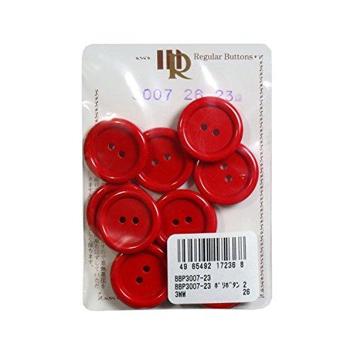 ポリボタン 23mm 赤 12個入り BBP3007-23 #26