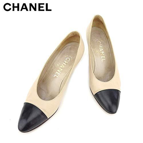 [シャネル] パンプス シューズ 靴 レディース #37 バイカラー 中古 C3536