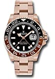 Rolex GMT-Master II 126715 18K ローズゴールド腕時計 ブラックダイヤル ブラックとブラウン 回転式ベゼル UNWORN