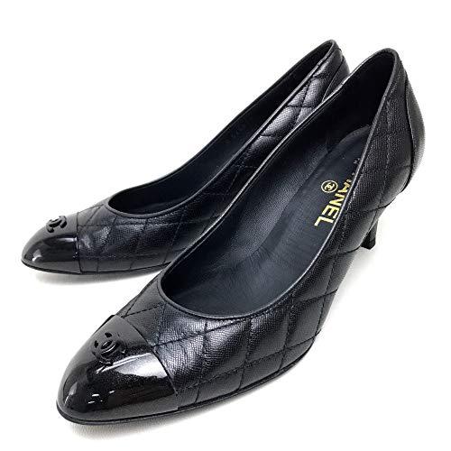 (シャネル)CHANEL G26899 マトラッセ CC 09A ヒール 靴 パンプス レザー/レディース 未使用 中古