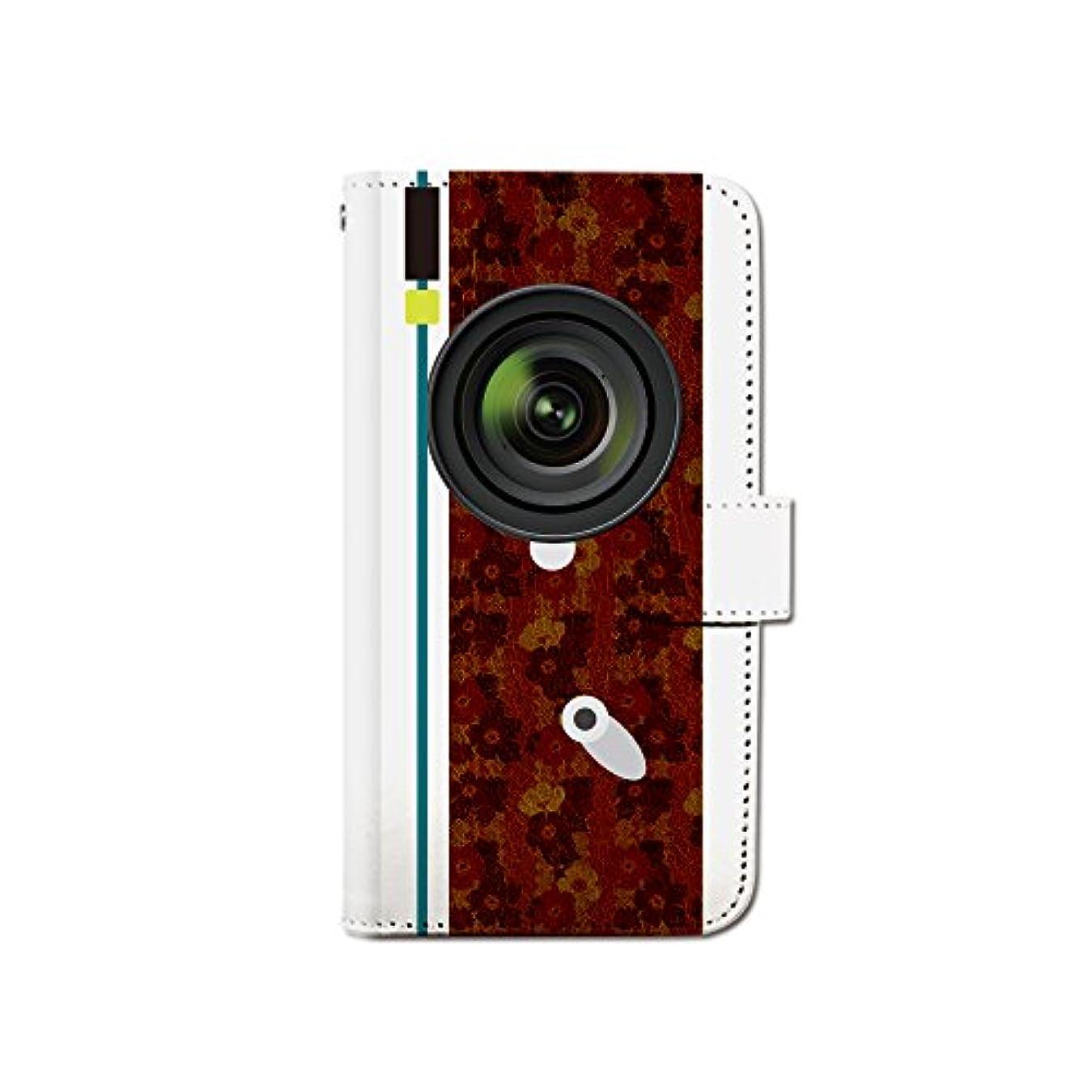 気付く気づく私たちのiPhone7 (4.7) iPhone7 カメラ レンズ イラスト スマホケース 手帳型 マグネット式 カード収納 dy001-00337-05 iPhone7 (4.7インチ):M