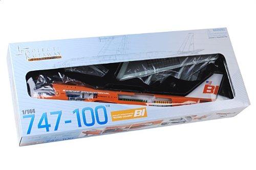 """1:144 ドラゴンモデルズProject Cutaway 47011 ボーイング 747-100 ディスプレイ モデル Braniff インターナショナル 航空 N601BN """"747 Branif"""