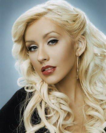 ブロマイド写真★クリスティーナ・アギレラ Christina Aguilera/見つめるアップ/【ノーブランド品】