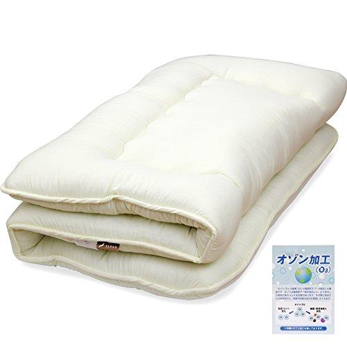 日本製シングル敷布団【オゾン加工】除菌防臭  (カバーなし)